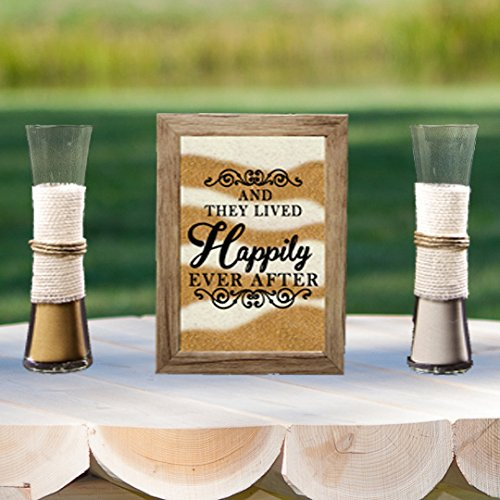 Rustic Barn Wood Wedding Unity Sand Ceremony Frame Set - Happily Ever After
