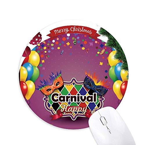 Alfombrilla redonda de goma para mouse con diseño de globo de carnaval de Venecia