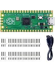 Raspberry Pi Pico Kit Flexibele Microcontroller Mini Development Board, Gebaseerd op de Raspberry Pi RP2040, Dual-Core ARM Cortex M0+ Processor, Running tot 133 MHz, Ondersteuning C/C++ /Python