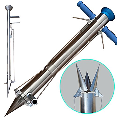 Novo Long Handled Bulb Planter Tools and Vegetable Seedling Transplanter with Disseminator,Distance and Pedal 36-Inchx4-Inch by Mr Garden