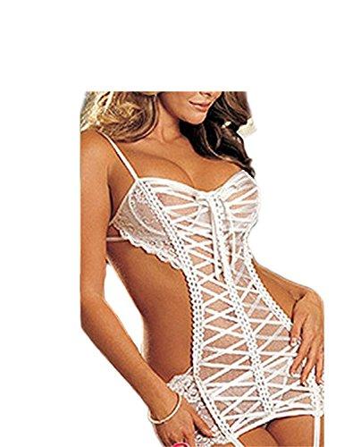 Orlando Johanson New Women's Plus Size Backless Lingerie White XL Comfortable