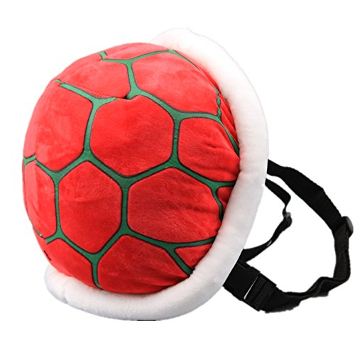 uiuoutoy RED Koopa Troopa Wind Backpack Plush Bag Turtle Shell Koura Super Mario Cosplay Costume