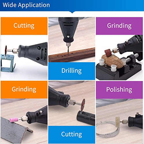 Teepao Impact Drill Metal Grinder, 130W Skill Hammering Drilling Machine Multi Purpose Advance Drill Machine Powered Mini Drill Grinder Machine for Crafting Cutting Grinding Drilling Polishing By by Teepao (Image #8)