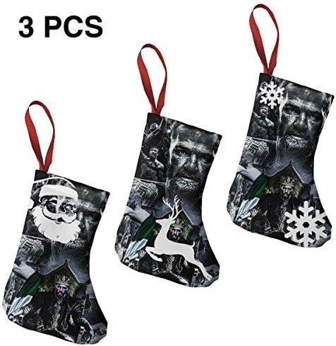 クリスマスの日の靴下 (ソックス3個)クリスマスデコレーションソックス コナーマクレガーConor McGregor クリスマス、ハロウィン 家庭用、ショッピングモール用、お祝いの雰囲気を加える 人気を高める、販売、プロモーション...