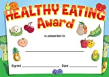 'Healthy Eating' award certificates, teachers, kids - 16 x A6 cards - colourful quality cards