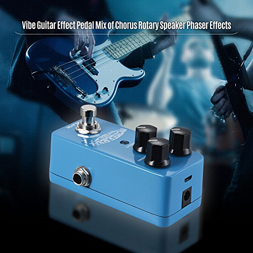 (Kalaok NCH-1 MONTEREY Vibe Guitar Effect Pedal Mix of Chorus Rotary Speaker Phaser Effects Full Metal Shell True Bypass)