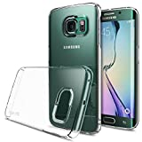 Galaxy S6 Edge Case, Ringke [Slim] Snug-Fit Slender [Tailored Cutouts] Lightweight & Thin Side to Side Edge Coverage Superior Coating PC Hard Skin for Samsung Galaxy S6 Edge - Clear