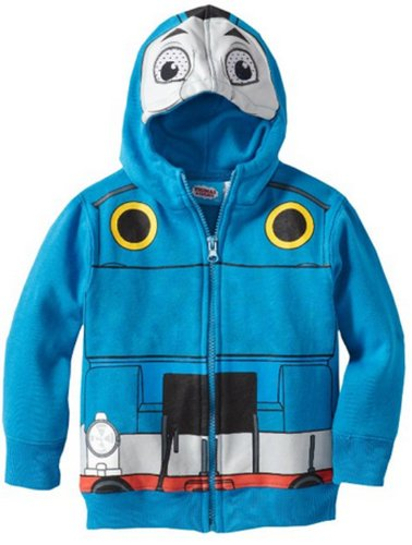 Thomas Little Boys' Fleece Masked Hoodie, Blue, 2T ()