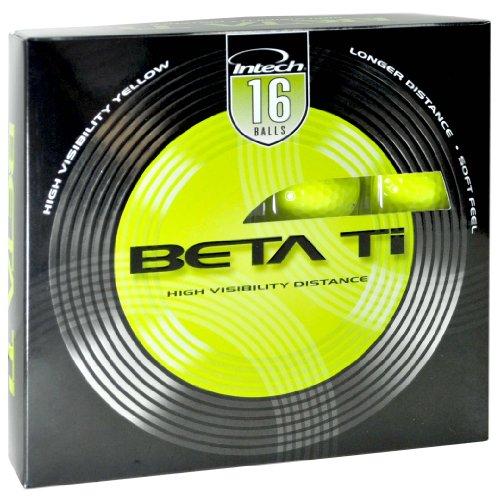 Intech Beta TI Distance 16-Pack Golf Balls, Outdoor Stuffs