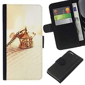 Planetar® Modelo colorido cuero carpeta tirón caso cubierta piel Holster Funda protección Para Apple iPhone 5C ( Clip collar de oro libro Cartas de lectura )