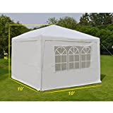 EZ-POP-UP-Wedding-Party-Tent-10×10-Folding-Gazebo-Beach-Canopy-WCarry-Bag-with-sidewalls-side-panel