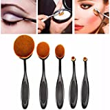 Binmer(TM)10PC/Set Toothbrush Eyebrow Foundation Eyeliner Lip Oval Brushes Foundation Brush (5PC/Set)