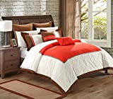 Chic Home 7-Piece Greensville Comforter Set, King, Red