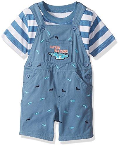 Nannette Baby Boys 2 Piece Woven Shortall Set