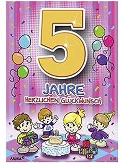 Archie Geburtstagskarte Zum 5 Geburtstag Junge Grün