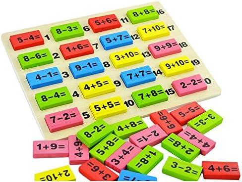 Lvedu Jeu de domino puzzle de calcul Jeu éducatif pour enfant de 3 ...