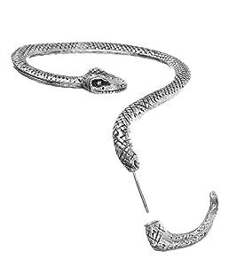 Hemore Boucle d'Oreille Cadeaux Idéal pour Femmes Bijoux Elégante Belle Simple Argent Serpent À Gauche