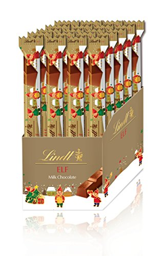 Lindt Holiday Milk Chocolate Elf Stick, 24 Count Box