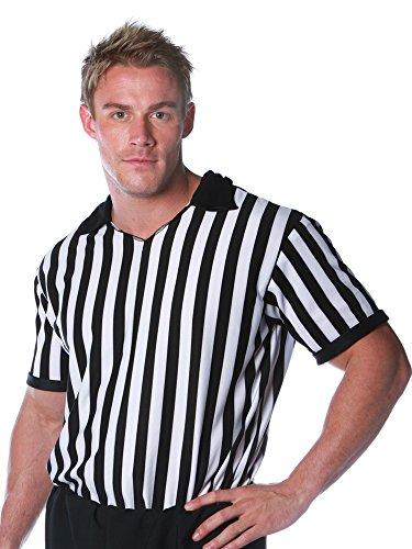 Halloween Express Referee Costume (Underwraps Costumes Men's Referee Costume - Shirt, Black/White, One Size)