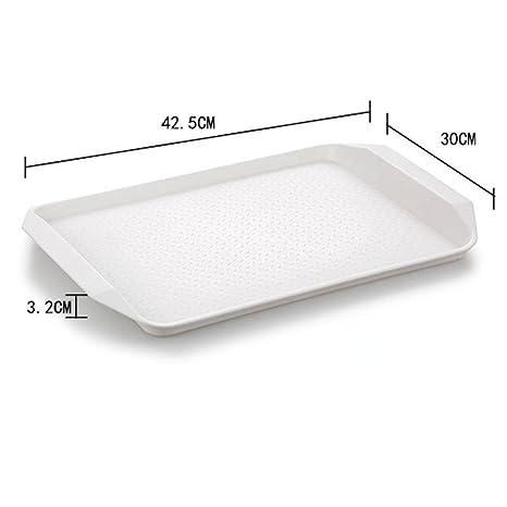 Longless Bandeja plato cantina placa de plástico cubiertos Comprar One Get One