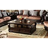 ACME Furniture 80010 Amado Coffee Table with 4 Drawers, Walnut