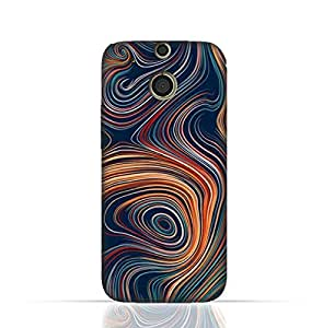 HTC M8 TPU Silicone Case With Abstract Swivled Stripes Pattern Design.