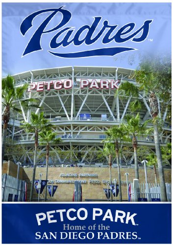 WinCraft MLB San Diego Padres Two Sided Stadium View Vertical Banner, 28 x (San Diego Padres Stadium)