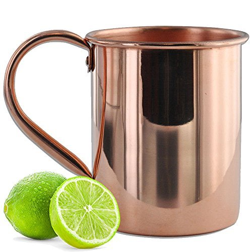 Solid Copper Mugs 22 oz Large Authentic Unlined Moscow Mule Copper (Mule Large Mug)