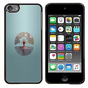 Jordan Colourful Shop - Tree Of Life For Apple iPod Touch 6 6th Generation Personalizado negro cubierta de la caja de pl????stico