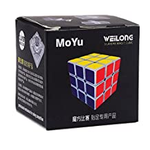 PeleusTech® MoYu WeiLong V1 Magic Cube 3x3x3 (57mm) Speed Cube Competition Version - White