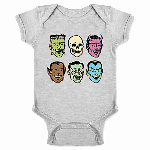 Pop Threads Retro Monster Party Halloween Costume Zombie Gray 6M Infant Bodysuit]()