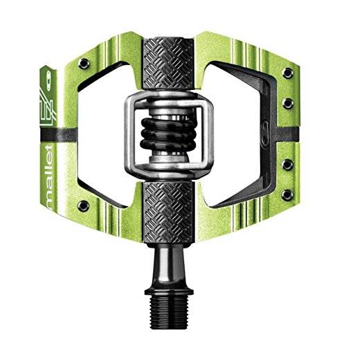 (CRANKBROTHERs Crank Brothers Mallet Enduro Long Spindle Pedal, Green)