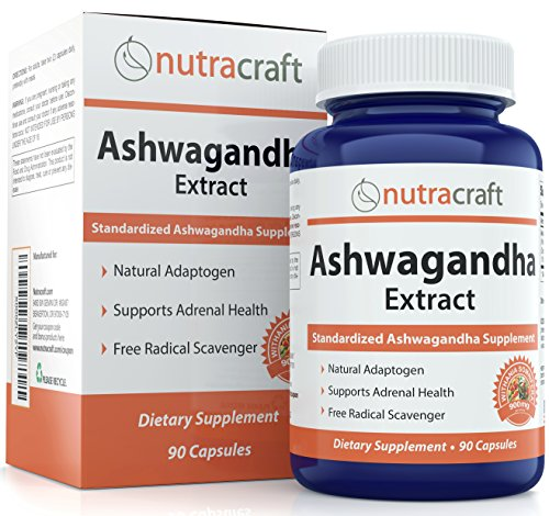 #1 Ashwagandha Supplement – 900mg Standardized Extract Per Serve To Support a Balanced Response To Anxiety and Adrenal Health – Made in USA – 90 Capsules