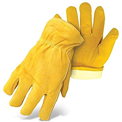 Boss Gloves Therm Insulated Split Deerskin Leather Driver