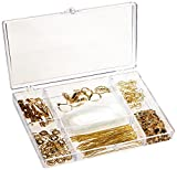 DARICE 1972-07 Finding Starter Kit Craft Accessory Box, Nickle Free Gold