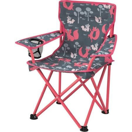 Ozark Trail Durable Polyester Fabric Kids' Chair, Pink