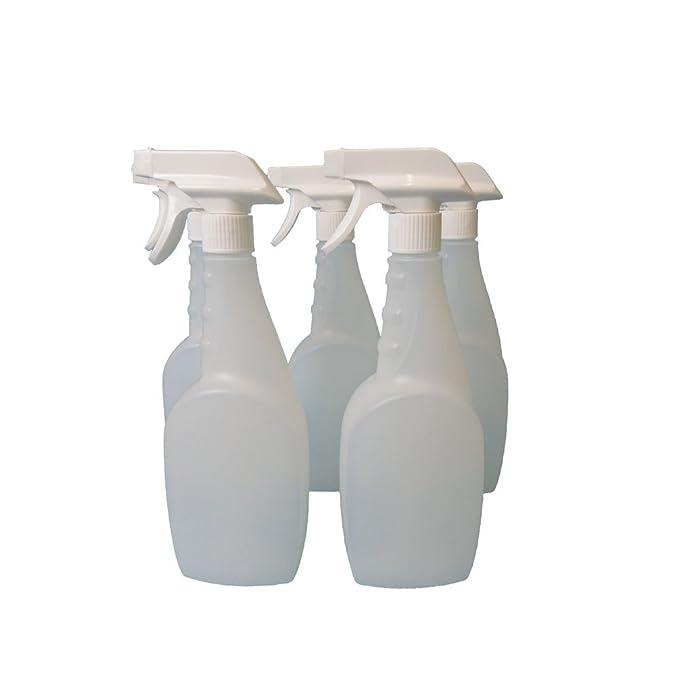 5 x 750 ml con pistola botellas, plástico Natural, para limpiar, jardinería y con forma de: Amazon.es: Hogar