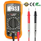 Aidbucks PM8233B Digital Multimeter AC/DC Voltage Tester 600V/10A MAX Electrical Battery Circuit Detector Continuity Resistance Test Multi Meter Ammeter Voltmeter for Automatic Household Use