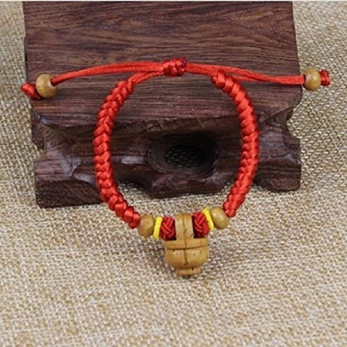 (Baby Girl Infants Children Ward Off Evil yajing Anti Scare Mahogany red String Bracelet Bangle Transit Light Open Adult Dog Teeth Bracelets Peach Basket (Peach Blue Circle vanquishing)