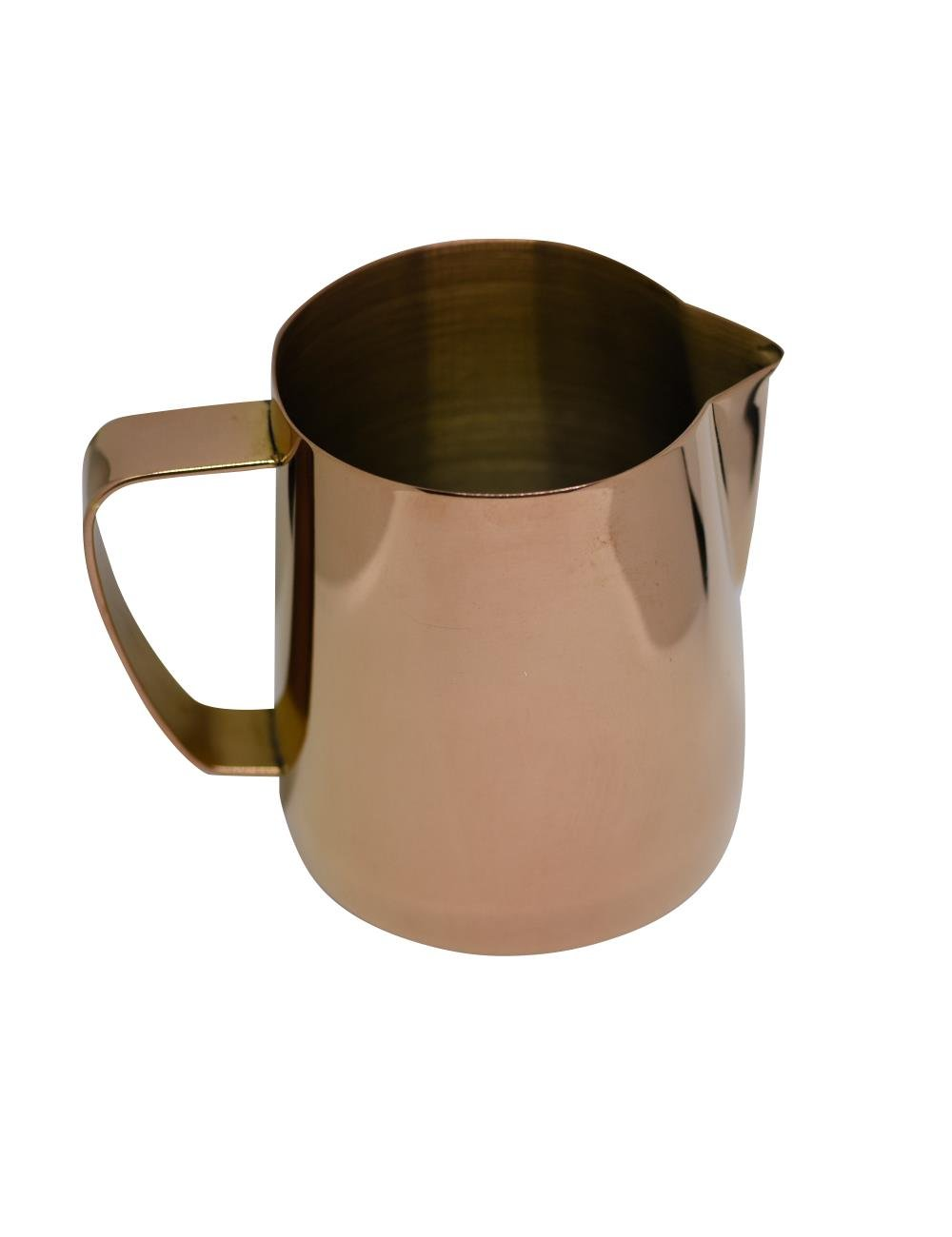 Latte Art | Stainless Steel Milk Frothing Pitcher Rose Gold 20 oz Titanium Mirror Finish by Barista Swag