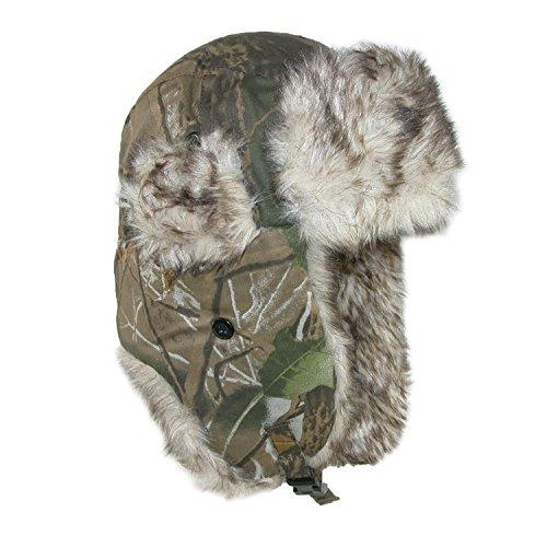 CTM Men's Camo Winter Aviator Hat with Ear Flaps, Large/Xlarge, Camo Winter Camo Cap Hat