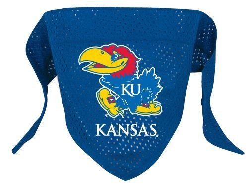 NCAA Kansas Jayhawks Pet Bandana, Team Color, Small