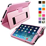 iPad Mini 1 and Mini 2 Case, Snugg - Candy Pink Leather Smart Case Cover [Lifetime Guarantee] Apple iPad Mini 1 and Mini 2 Protective Flip Stand Cover with Auto Wake / Sleep