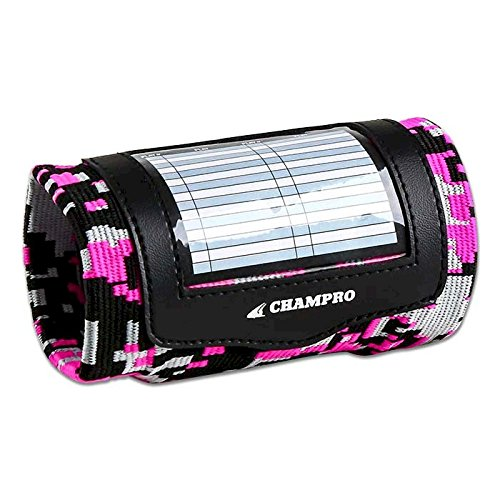 Champro Youth Single Wristband Playbook, Camo Optic Pink