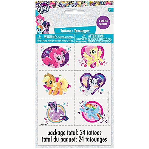 Unique Industries My Little Pony Temporary Tattoos, -
