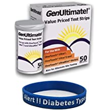 Genultimate 50 count with Type 2 Diabetic Alert Wristband