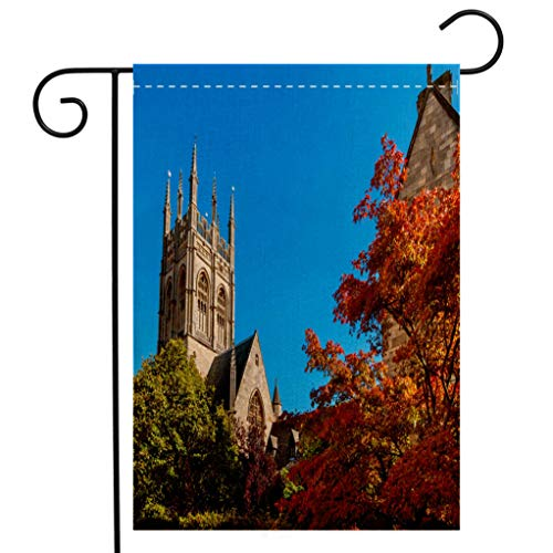 BEIVIVI Custom Double Sided Seasonal Garden Flag Merton College Oxford England Garden Flag Waterproof for Party Holiday Home Garden Decor ()