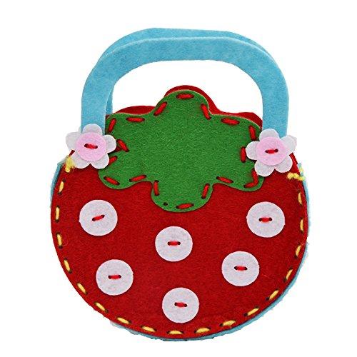 孩派 幼儿园手工制作 儿童diy手工材料 无纺布不织布 手工包包 (草莓)