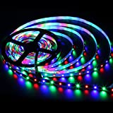 EPBOWPT 5M/16.4ft SMD 3528 RGB 300 LEDs Color Changing DC 12V Non-Waterproof Flexible Strip Light