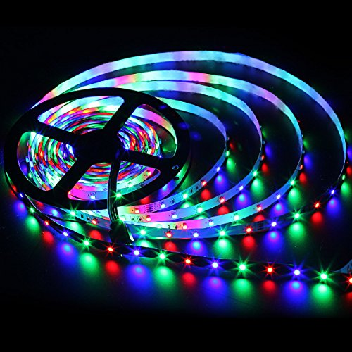 SUPERNIGHT RGB Light Strip, 16.4FT 3528 SMD LED Flexible Rope Lights Non-waterproof, 300leds Color Changing Lighting for Kitchen Bedroom TV Desktop Party Home (Best Supernight Televisions)